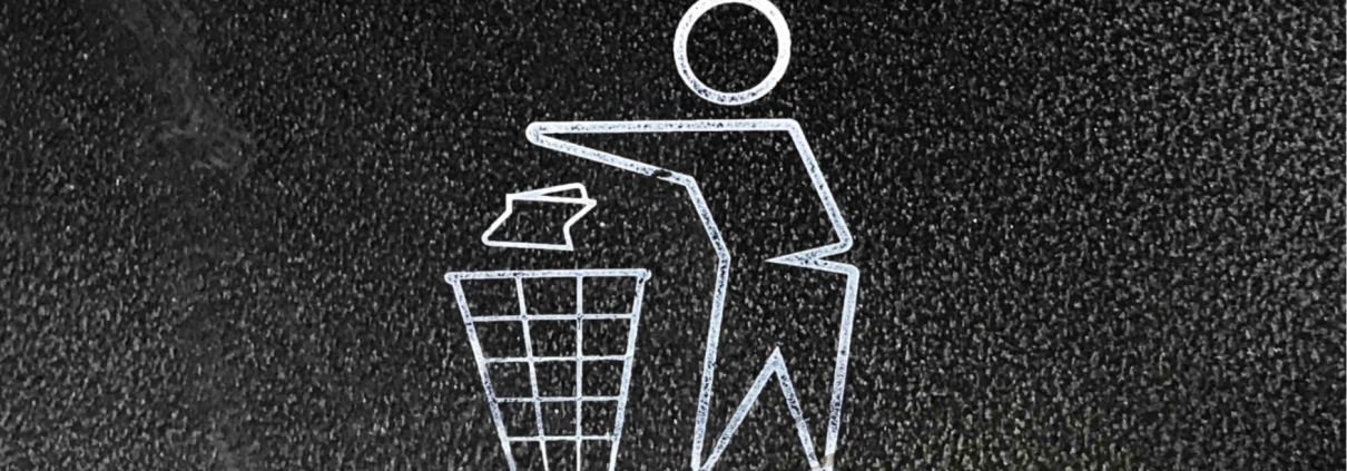 Image of litter in bin