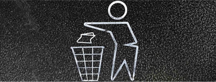 Image of litter in bin
